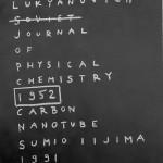 radushkevich & lukyanovich 1952 nanotube with sumio iijima by oliver sin