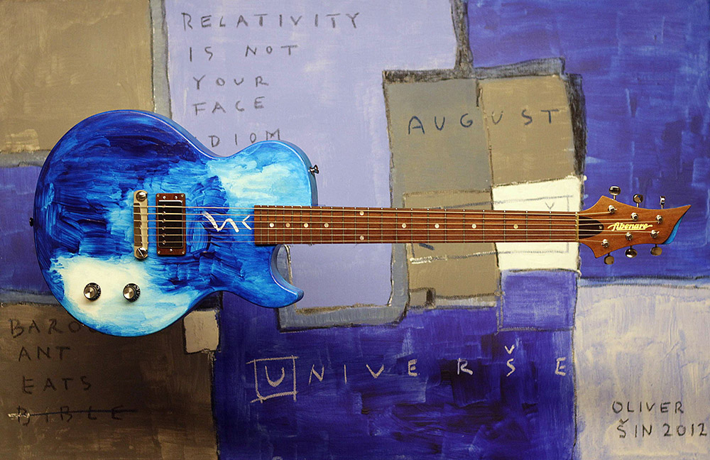 Fibenare-Sin Guitar NAMM 2013 USA painted guitar 80X120cm_1000